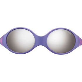 Julbo Loop Spectron 4 Sunglasses Baby 2-4Y Purple/Sky Blue/Fluorescent Pink-Gray Flash Silver